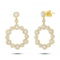 2.07ct 14k Yellow Gold Diamond Earrings