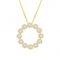 1.18ct 14k Yellow Gold Diamond Necklace