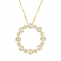 1.14ct 14k Yellow Gold Diamond Necklace