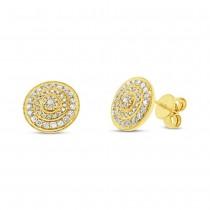0.46ct 14k Yellow Gold Diamond Earrings