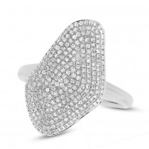 0.63ct 14k White Gold Diamond Pave Lady's Ring