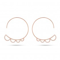 0.35ct 14k Rose Gold Diamond Hoop Earrings