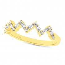 0.32ct 14k Yellow Gold Diamond Baguette Lady's Ring
