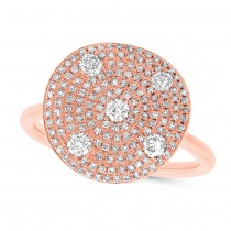 0.68ct 14k Rose Gold Diamond Lady's Ring