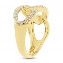 0.55ct 14k Yellow Gold Diamond Lady's Ring