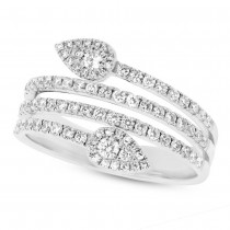 0.65ct 14k White Gold Diamond Lady's Ring