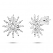 0.41ct 14k White Gold Diamond Earrings