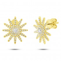 0.41ct 14k Yellow Gold Diamond Earrings