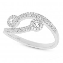 0.37ct 14k White Gold Diamond Lady's Ring