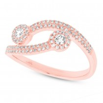 0.37ct 14k Rose Gold Diamond Lady's Ring