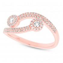 0.37ct 14k Rose Gold Diamond Lady's Ring