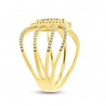0.46ct 14k Yellow Gold Diamond Lady's Ring