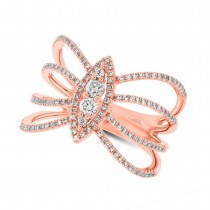 0.46ct 14k Rose Gold Diamond Lady's Ring