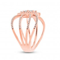 0.46ct 14k Rose Gold Diamond Lady's Ring