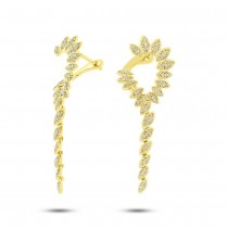 0.59ct 14k Yellow Gold Diamond Earrings