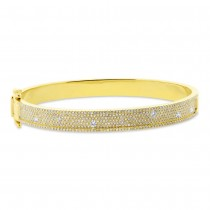 1.47ct 14k Yellow Gold Diamond Bangle