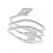 0.28ct 14k White Gold Diamond Lady's Ring