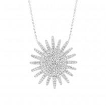 0.43ct 14k White Gold Diamond Necklace