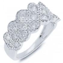 1.42ct 14k White Gold Diamond Lady's Ring
