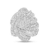 5.62ct 18k White Gold Diamond Lady's Ring