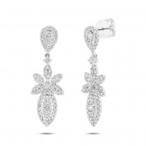 2.37ct 18k White Gold Diamond Earrings