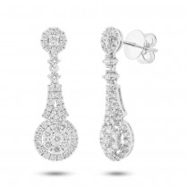 1.44ct 18k White Gold Diamond Earrings