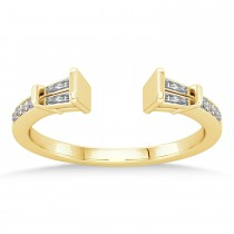 Diamond Accented Open Shank Wedding Band 18k Yellow Gold (0.34 ctw)