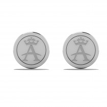 Allurez A Crown Cuff Links 14k White Gold