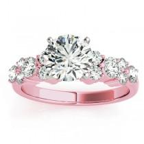 Diamond Garland Engagement Ring Setting 14K Rose Gold (0.66ct)