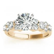 Diamond Garland Engagement Ring Setting 14K Yellow Gold (0.66ct)