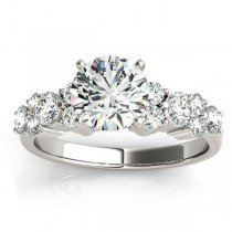 Diamond Garland Engagement Ring Setting 18K White Gold (0.66ct)