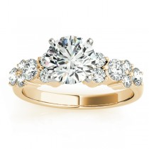 Garland Diamond Accented Engagement Ring Setting 18K Yellow Gold (0.66ct)