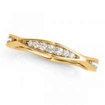 Diamond Accented Wedding Band 18k Yellow Gold (0.17ct)