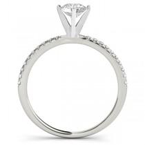 Diamond Accented Round Engagement Ring Platinum (0.62ct)