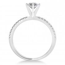 Oval Salt & Pepper Diamond Accented Engagement Ring Palladium (0.75ct)