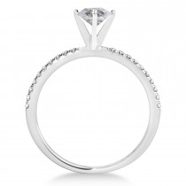 Oval Salt & Pepper Diamond Accented  Engagement Ring 18k White Gold (1.00ct)