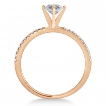 Oval Salt & Pepper Diamond Accented  Engagement Ring 18k Rose Gold (1.50ct)