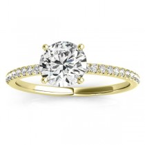 Diamond Accented Engagement Ring Setting 14k Yellow Gold (0.12ct)