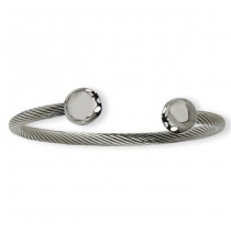 Men's Stainless Steel Polished Cuff Bangle Bracelet