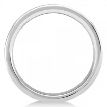 Men's Flat Wedding Ring Band in White Tungsten (6mm)