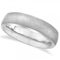 Rounded Edge Domed Sandblasted Wedding Ring Band in Tungsten (6.3mm)