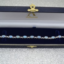 Diamond and Opal Bracelet 14k White Gold (10.26 ctw)|escape