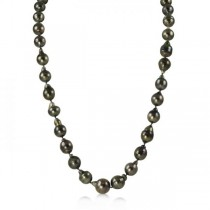 Circle' Cultured Black Tahitian Pearl Strand Necklace 8-11mm