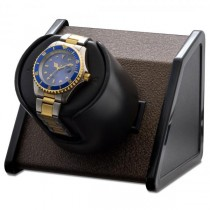 Orbita Rectangular Single Watch Winder in Brown Metal