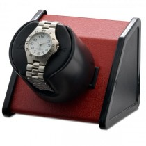 Orbita Rectangular Single Watch Winder in Red Metal