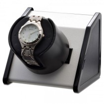 Orbita Rectangular Single Watch Winder in White Metal