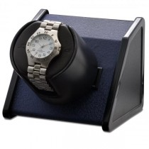 Orbita Rectangular Single Watch Winder in Blue Metal