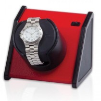 Orbita Rectangular Single Watch Winder in Vibrant Red