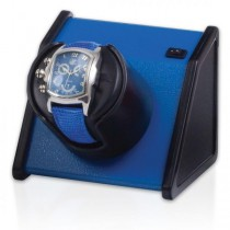 Orbita Rectangular Single Watch Winder in Vibrant Blue