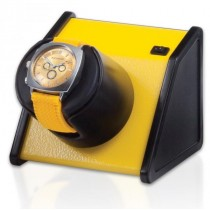 Orbita Rectangular Single Watch Winder in Vibrant Yellow